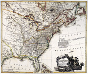 1809 Framed Prints - Map Of America, 1809 Framed Print by Granger