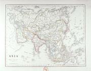 Antique Map Digital Art Framed Prints - Map Of Asia Framed Print by Fototeca Storica Nazionale