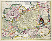 Antique Map Drawings - Map of Asia Minor by Nicolaes Visscher
