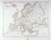 Map Of Europe Print by Fototeca Storica Nazionale