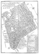 Manhattan Map Framed Prints - Map Of New York City, 1803 Framed Print by Granger