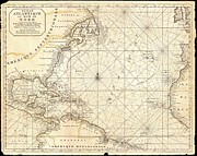 Atlantic Ocean Drawings Prints - Map of North America Print by Pg Reproductions