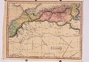 Tunisia Prints - Map Of The Barbary States Of North Print by Everett