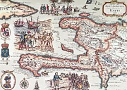 Antique Map Art - Map of the Island of Haiti by French School