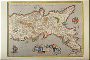 Geography Art - Map Of The Kingdom Of Naples by Fototeca Storica Nazionale