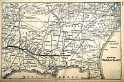 Susan Leggett Prints - Map of the Natchez Route Print by Susan Leggett