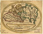 Old Map Photos - Map Of The Old World by Science Source