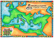 Map Of The Roman Empire Print by Jennifer Thermes