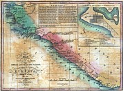 Slaves Prints - Map Of The West Coast Of Africa Print by Everett