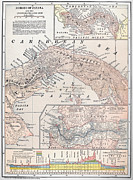 1907 Framed Prints - Map: Panama, 1907 Framed Print by Granger
