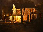 Thomas Akers Prints - Maple Avenue Nocturne Print by Thomas Akers