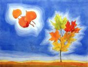 Complimentary Prints - Maple Fall Print by John Gibbs