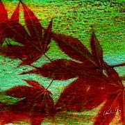 Japanese Mixed Media - Maple Leaf 2 by Paul Gaj