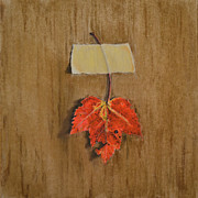 Leaf Pastels Originals - Maple Leaf by Joanne Grant