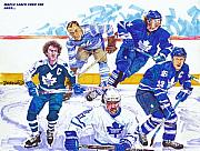 Hockey Mixed Media Prints - Maple Leafs Thru The Ages Print by Brian Child