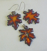 Hand Made Jewelry - Maple Leaves by Asya Ostrovsky