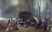 Family Gathering Framed Prints - MAPLE SYRUP, c1865 Framed Print by Granger