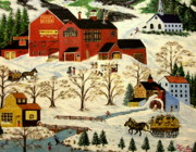 Antiques Paintings - Maple Syrup Factory by Kenneth  LePoidevin