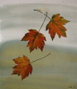 Batik Tapestries - Textiles - Maples in Fall by Carolyn Doe