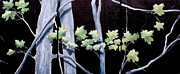 Silver Moonlight Paintings - Maples in Moonlight by Diane Daigle
