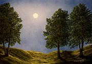 Paths Originals - Maples In Moonlight by Frank Wilson