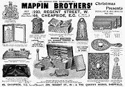 Cigarette Case Framed Prints - Mappin Brothers Ad, 1895 Framed Print by Granger