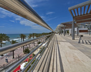 Stainless Steel Prints - Marbella Seafront 1 Print by Kenton Smith
