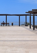 Man On Bench Prints - Marbella Seafront 3 Print by Kenton Smith