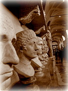 Brown Head Sculpture Prints - Marble Busts. Vatican Print by Tanya  Searcy