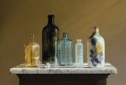 Tabletop Pastels Prints - Marble on Marble Print by Barbara Groff