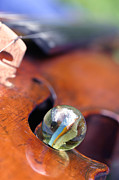 Marble Art - Marble on Violin by Dagmar Ceki