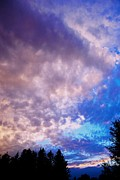 Sunset Greeting Cards Art - Marble Sky 2 by Kevin Bone