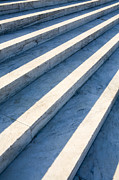 Step Prints - Marble Steps, Jefferson Memorial, Washington DC, USA, North America Print by Paul Edmondson