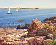 Ledge Painting Posters - Marblehead Jewel Poster by Elaine Farmer