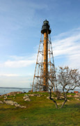 Benches Photos - Marblehead Light by Michelle Wiarda