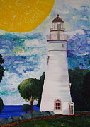 Great Lakes Ship Paintings - Marblehead Lighthouse by Dani Altieri Marinucci