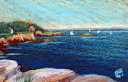 Massachusetts Drawings Posters - Marblehead Massachusetts Poster by Tina McCurdy