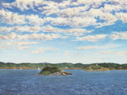 Ledge Painting Posters - Marblehead View Poster by Elaine Farmer