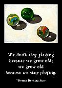 Marbles Paintings - Marbles and the Importance of Play by Joyce Geleynse