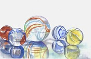 Marbles Paintings - Marbles I by Elizabeth York