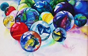 Marbles Paintings - Marbles III by Elizabeth York