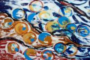 Marbles Paintings - Marbles of Life by Gina De Gorna