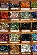 Toy Shop Photo Metal Prints - Marbles Metal Print by Sophie Vigneault