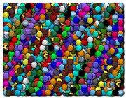 Marbles Paintings - Marbles..or...gumballs by Paul Van Scott