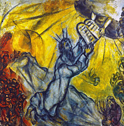Exodus Framed Prints - Marc Chagall: Moses Framed Print by Granger
