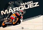 Evan DeCiren Art - Marc Marquez - Moto2 2011 by Evan DeCiren