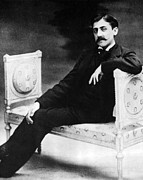 Valentin Framed Prints - Marcel Proust, French Author Framed Print by Omikron