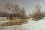 Russia Paintings - March by Andrey Soldatenko