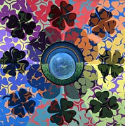 Leprechaun Paintings - March Mandala or Ephemeral  by Jess-o