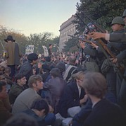 Cold War Era Art - March On The Pentagon. Military Police by Everett